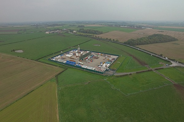 Cuadrilla's Preston New Road test drilling site. Photograph: Cuadrilla