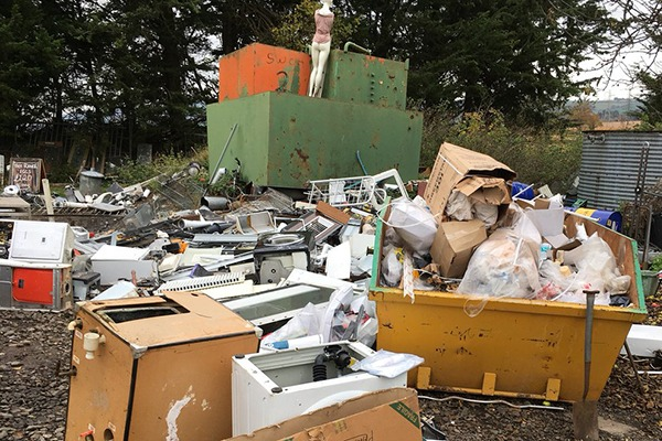 Illegal waste site. Photograph: Environment Agency