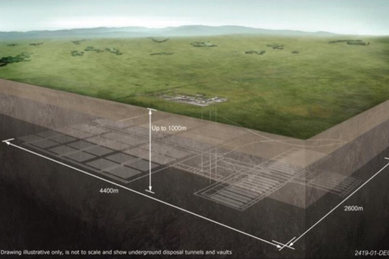 Illustration of a geological disposal facility. Image: BEIS