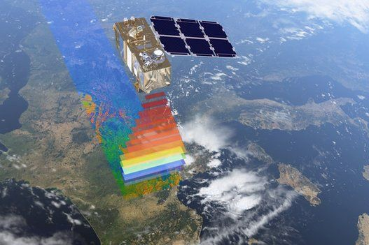 Sentinel-2 satellite. Photograph: European Space Agency