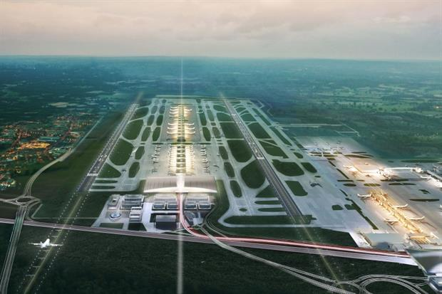 A two-runway Gatwick Airport, and other expansion schemes, are not compatible with net zero, according to researchers. Image: Gatwick Airport