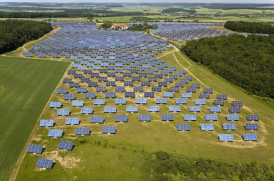 Solon SE's 12 megawatt Erlasee solar park in Bavaria gives an idea of what could be coming to the UK. © Paul Langrock