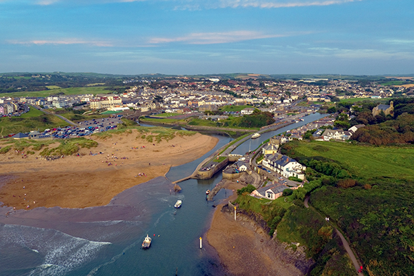 Aerial view of Bude, Cornwall