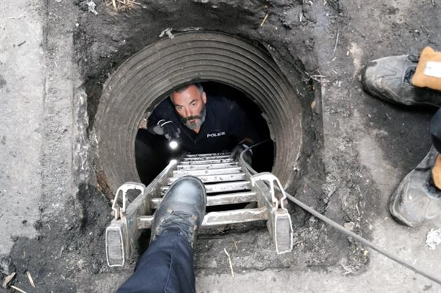 The bunkers were buried six metres underground. Photograph: Lincolnshire Police