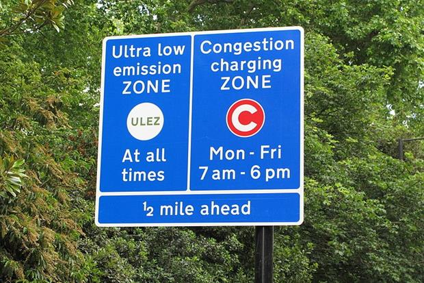 London's Ultra Low Emission Zone will expand to the suburbs in October. Photograph: David Hawgood/Wikimedia Commons