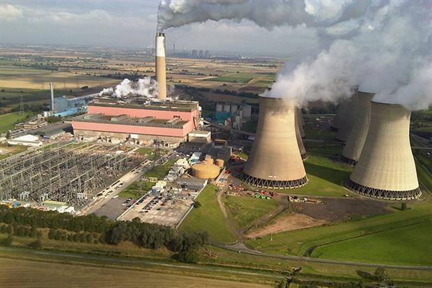 The Cottam coal-fired power station in Nottinghamshire was closed in 2019. Photograph: EDF