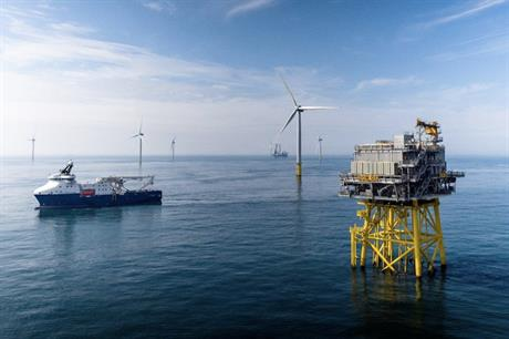 Dudgeon wind farm project off the east coast of England