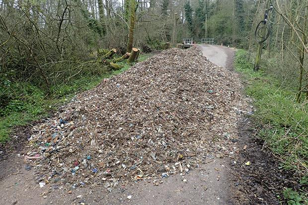 More than 260 tonnes of rubbish were dumped in Surrey over a 10-day period this month. Photograph: Environment Agency