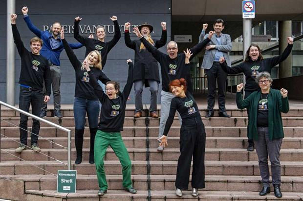 Friends of the Earth Netherlands' climate case team (pic: Martin van Dijl)