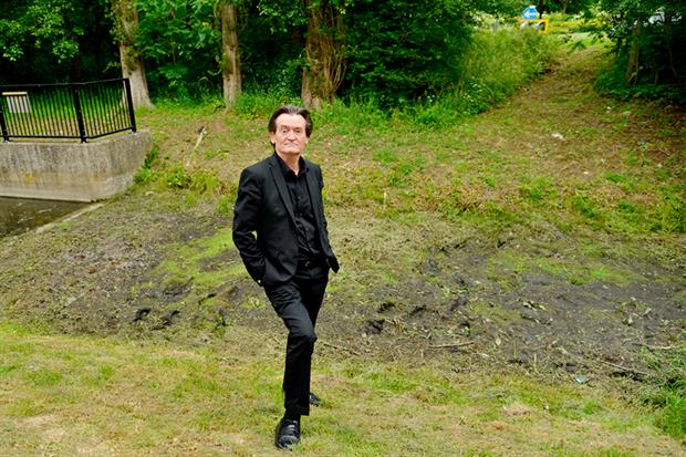 Feargal Sharkey on the bank of the River Ver, once a rare, species-rich chalk stream, now a ditch. Photograph: Leo Wilkinson