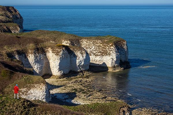 Sea cliffs at Flamborough Head, North Yorkshire coast