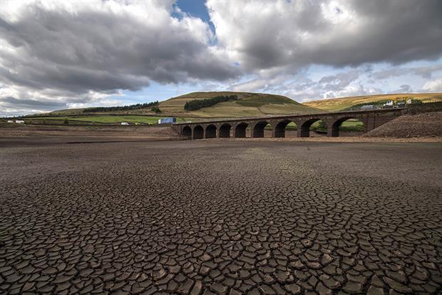 Woodhead reservoir in Derbyshire following the long, dry summer of 2018. Photograph: Anthony Devlin/Getty Images