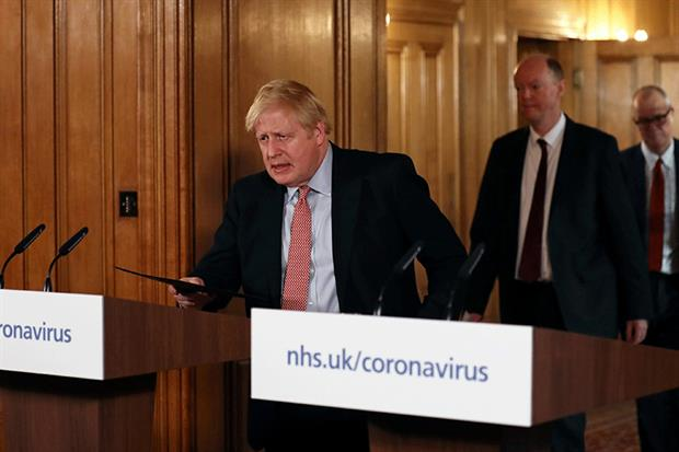 The prime minister said yesterday that people with coronavirus symptoms should stay at home for at least seven days, though he has refused to shut schools or stop major events. Photograph: WPA Pool/Getty ImagesPhotograph: WPA Pool/Getty Images