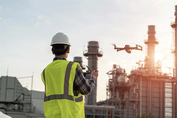 Drones could replace some site inspections during the lockdown. Photograph: Seksan Mongkhonkhamsao/Getty Images