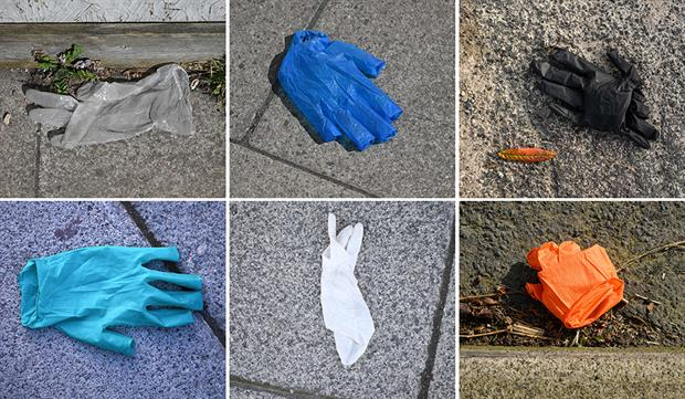 As demand for PPE rises, so too has been the associated waste. Photograph: Oli Scarff/Getty Images