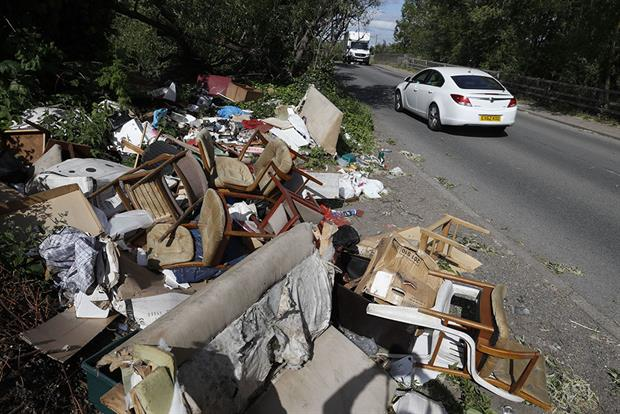 Organised waste crime in on the increase. Photograph: Adrian Dennis/Getty Images