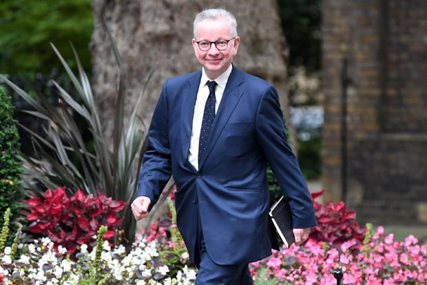 Gove replaces Jenrick as housing secretary. Photograph: Daniel Leal-Oliva/AFP/Getty Images