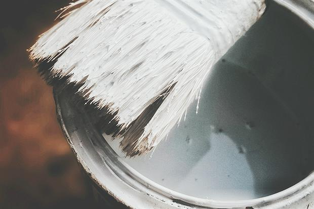 Titanium dioxide is used in white paint. Photograph: Vremea Sergiu/EyeEm/Getty Images