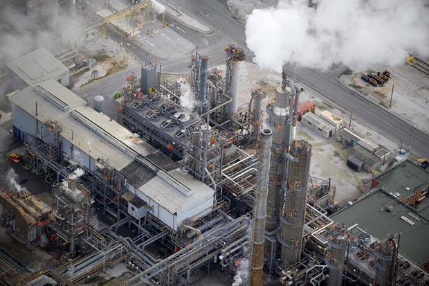 Essar Oil's Stanlow refinery had the worst possible compliance rating in 2019. Photograph: Jason Hawkes/Getty Images
