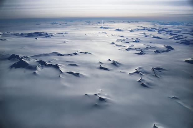 An aerial view from the Antarctic Peninsular. Scientists are investigating the possibility that climate change could lead to a catastrophic collapse in the West Antarctic ice sheet. Photo: Mario Tama/Getty Images