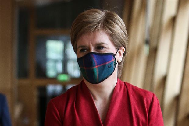 """The leaked notes say there is a risk that the Scottish leader could """"hijack"""" COP26. Photograph: Getty Images"""