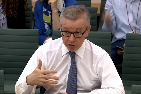 Michael Gove at Environmental Audit Committee