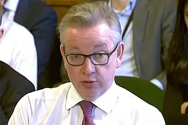 Michael Gove at EAC hearing