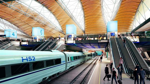 An artists impression of HS2 at Euston station. Photo: HS2 Ltd