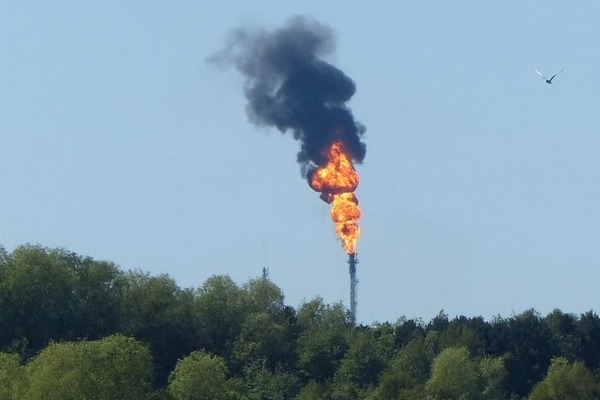 Flaring from Ineos' Kinneil oil terminal