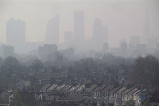 London air pollution from Hackney, April 2015. Photograph: David Holt/Flickr