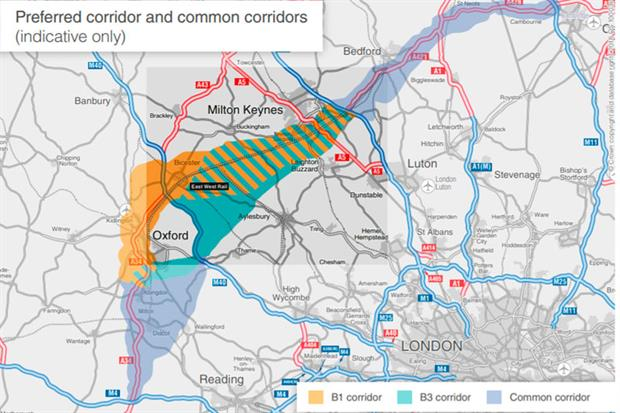The proposed dual-carriageway, which is intended to provide the fastest route between Oxford and Cambridge, rerouting traffic to avoid Milton Keynes. Photograph: Highways England