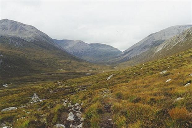 Path into the Lairig Ghru from Glen Dee