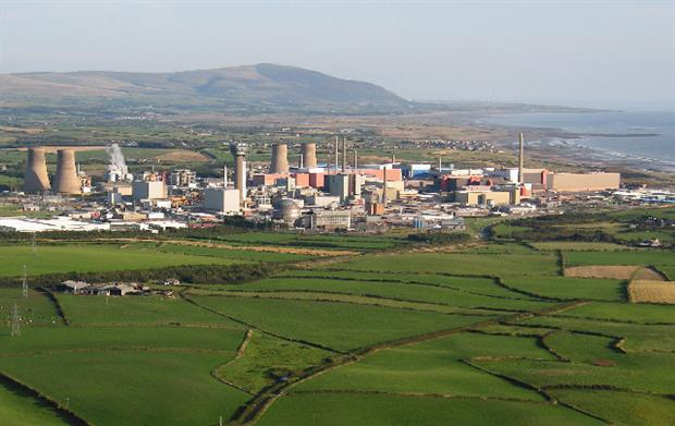 Sellafield nuclear fuel reprocessing plant
