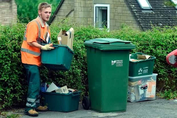 Stroud District Council increased its recycling rate by 29.7 points in two years