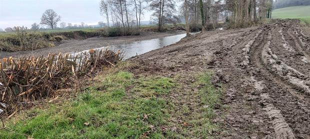 The landowner said he was protecting the community from flooding. Photograph: Environment Agency