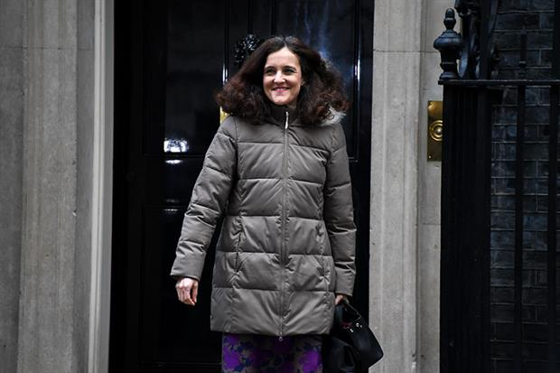 Environment secretary Theresa Villiers leaves Downing Street after the first cabinet meeting of 2020. Photograph: Alberto Pezzali/NurPhoto via Getty Images