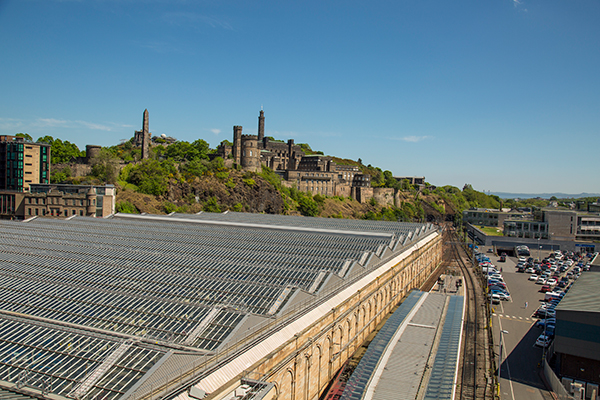 Waverley train station, Edinburgh, Scotland