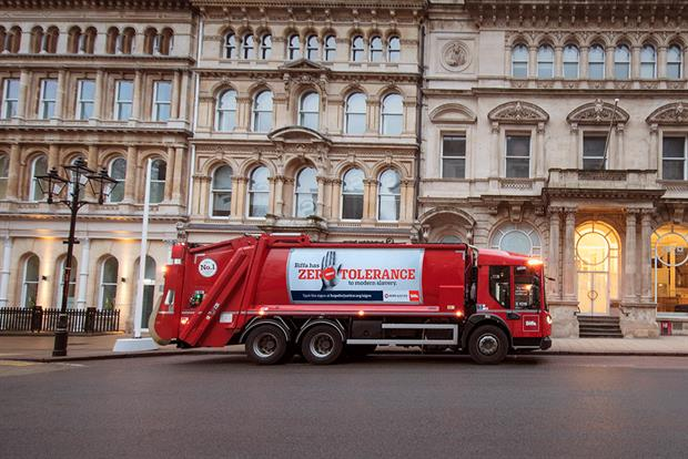 Biffa has launched a campaign to highlight its 'zero-tolerance' approach to modern slavery. Photograph: Biffa