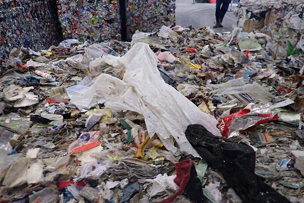 EA inspections found that the waste included soiled nappies, tins, hairpieces, plastics, as well as clothing and food packaging. Photograph: Environment Agency