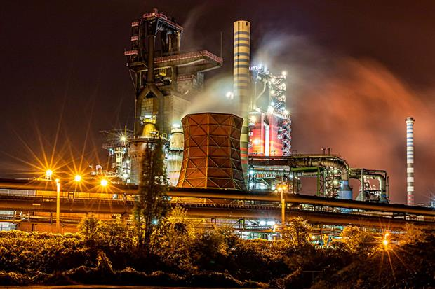 ThyssenKrupp's steel plant in Duisburg, Germany: Steel remains a major obstacle to reaching net-zero emissions