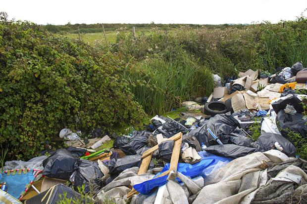 The misdescription of waste is perceived to be the most prevalent waste crime type, followed by the operation of illegal waste sites. Robert Brook, Getty