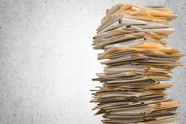 Pile of document folders