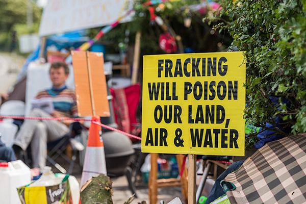 Fracking protest in Lancashire