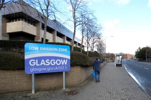 Glasgow's low emission zone is partially operational. Photograph: Thomas Nugent/Geograph