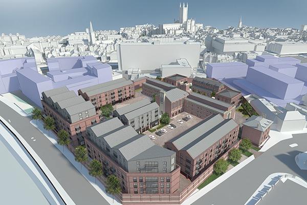 Illustration of plans to convert HMP Gloucester prison into flats