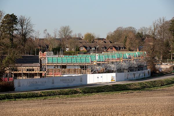 Housing development under construction