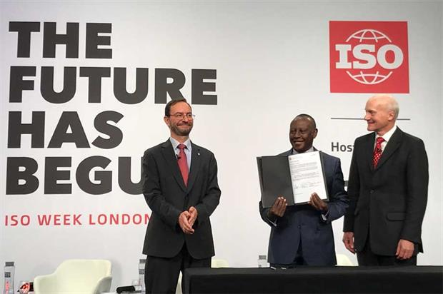 The declaration being officially signed off last week (pic: BSI)