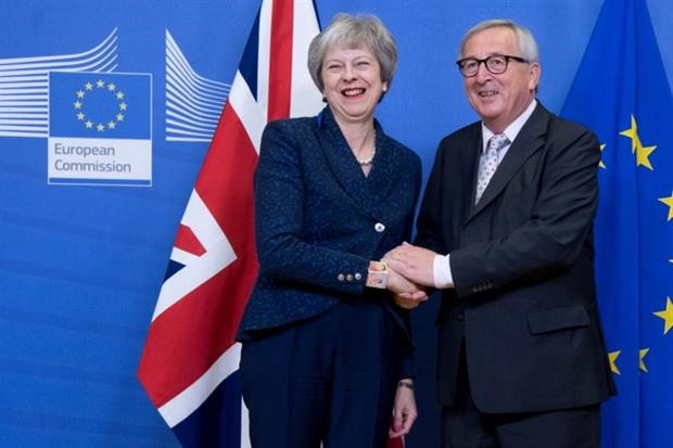 Theresa May meets Jean-Claude Juncker