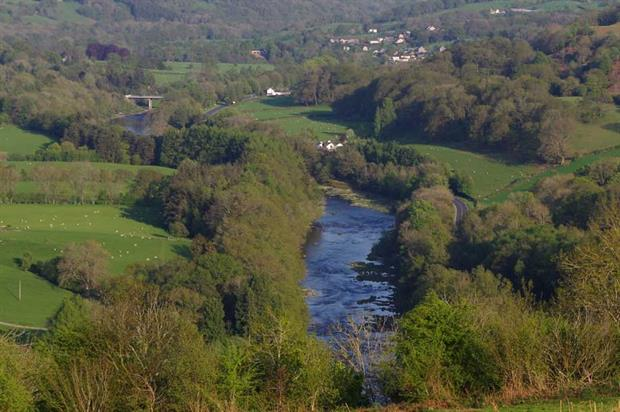 The River Wye. Photograph: cc-by-sa/2.0 Andrew Hill geograph.org.uk/p/5767323