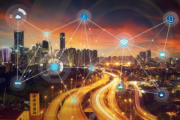 Smart grid conceptual illustration